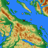 Nearby Forecast Locations - Qualicum AP - Map