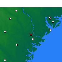 Nearby Forecast Locations - Savannah - Map