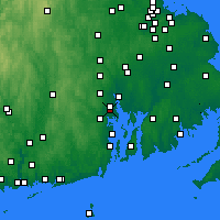 Nearby Forecast Locations - Providence - Map