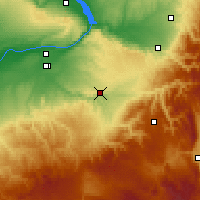 Nearby Forecast Locations - Pendleton - Map