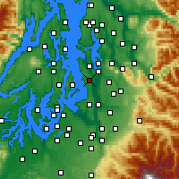 Nearby Forecast Locations - Seattle - Map