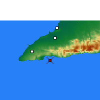 Nearby Forecast Locations - Cape Cruz - Map