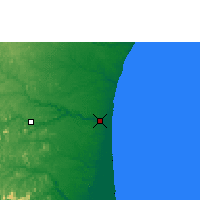 Nearby Forecast Locations - São Mateus - Map
