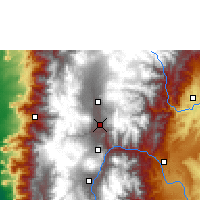 Nearby Forecast Locations - Ambato - Map