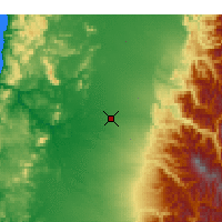 Nearby Forecast Locations - Chillán - Map
