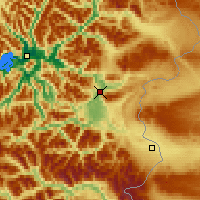 Nearby Forecast Locations - Coyhaique - Map