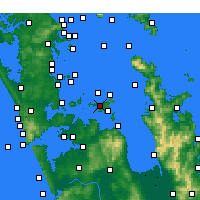 Nearby Forecast Locations - Waiheke Island - Map