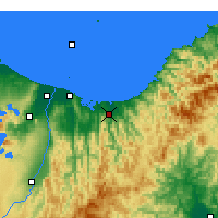 Nearby Forecast Locations - Opotiki - Map