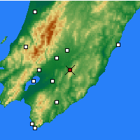 Nearby Forecast Locations - Upper Hutt - Map