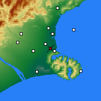 Nearby Forecast Locations - Christchurch - Map