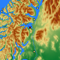 Nearby Forecast Locations - Manapouri - Map