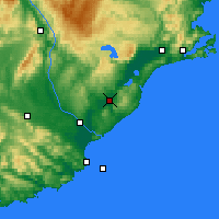 Nearby Forecast Locations - Milton - Map