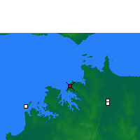 Nearby Forecast Locations - Darwin - Map