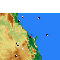 Nearby Forecast Locations - Cairns - Map