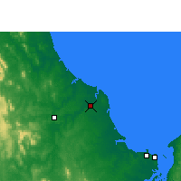 Nearby Forecast Locations - Bundaberg - Map