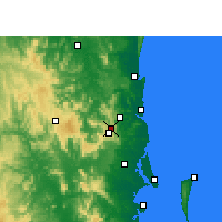 Nearby Forecast Locations - Baroon Pocket Dam - Map