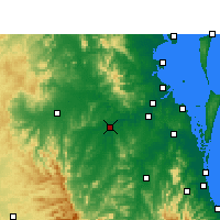 Nearby Forecast Locations - Amberley - Map