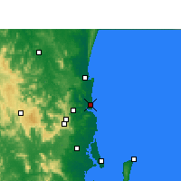 Nearby Forecast Locations - Sunshine Coast Airport - Map
