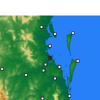 Nearby Forecast Locations - Brisbane - Map