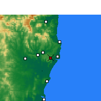 Nearby Forecast Locations - Alstonville - Map