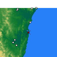 Nearby Forecast Locations - Yamba - Map