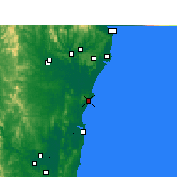Nearby Forecast Locations - Evans Head - Map