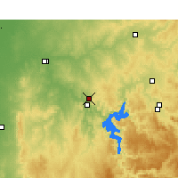 Nearby Forecast Locations - Wellington Res. - Map