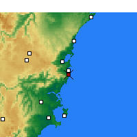 Nearby Forecast Locations - Kiama - Map