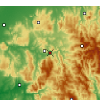 Nearby Forecast Locations - Eildon Dam - Map