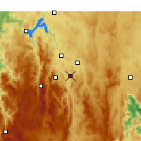 Nearby Forecast Locations - Tuggeranong - Map