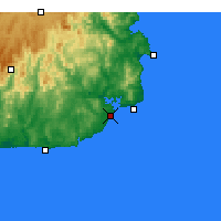 Nearby Forecast Locations - Mallacoota - Map