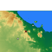 Nearby Forecast Locations - Woolshed - Map