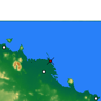 Nearby Forecast Locations - Ayr Alva Beach - Map