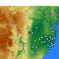 Nearby Forecast Locations - Springwood - Map