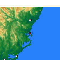 Nearby Forecast Locations - Forster - Map