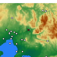 Nearby Forecast Locations - Tarrawarra - Map