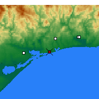 Nearby Forecast Locations - Lakes Entrance - Map