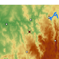 Nearby Forecast Locations - Adelong - Map