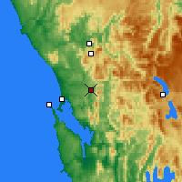 Nearby Forecast Locations - Queenstown - Map