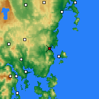 Nearby Forecast Locations - Orford - Map