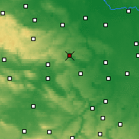 Nearby Forecast Locations - Eisleben - Map