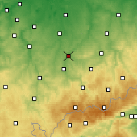 Nearby Forecast Locations - Glauchau - Map