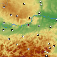 Nearby Forecast Locations - Melk - Map