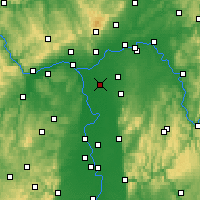 Nearby Forecast Locations - Groß-Gerau - Map