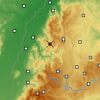 Nearby Forecast Locations - Bad Peterstal-Griesbach - Map
