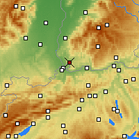 Nearby Forecast Locations - Lörrach - Map