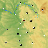 Nearby Forecast Locations - Ebermannstadt - Map