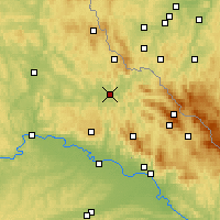 Nearby Forecast Locations - Cham - Map