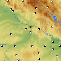 Nearby Forecast Locations - Passau - Map