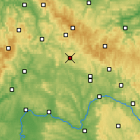 Nearby Forecast Locations - Hildburghausen - Map